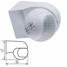 PIR Motion Movement Sensor Detector IP44 Outdoor Security Surface Wall Mounted