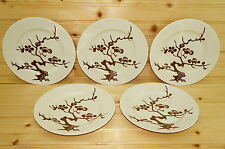 "Fitz & Floyd Prunier De Chine Cognac (5) Salad Plates, 7 1/2"""