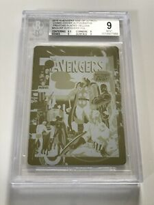 2015 Avengers Age of Ultron NEAL ADAMS 92 Comic Cover Art 1/1 Printing Plate BGS