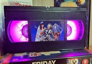 Beetle Juice Retro VHS Night Light, Desk Lamp, Led, Bedroom Lamp, Kids, Gift