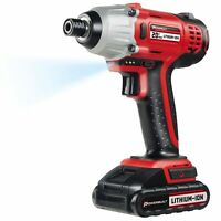 Powerbuilt 20V Lithium-Ion Cordless Impact Driver 1590 in-lbs with Case - 240132