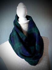 Black Watch Tartan snood, tartan cowl loop scarf, green tartan neck warmer