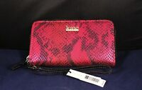 "New Kate Landry 6.5"" Colorful Zip-Around Wallet Clutch Wristlet NWT"