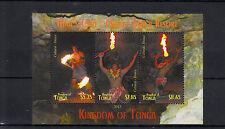 Tonga 2013 MNH Native Fire Dance Hina's Cave 3v M/S Cultures Ethnicities Oholei