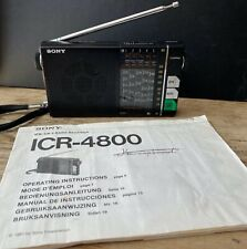 Sony ICR-4800 MW/SW 6 Band Receiver portable radio with carry case