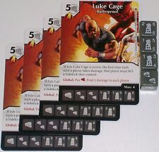 4 X LUKE CAGE BULLETPROOF 48/142 Civil War Dice Masters