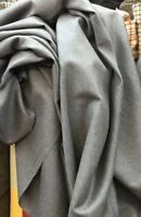 "100% Pure Wool Soft Tailoring Grey Suiting Trouser Fabric 60"" Wide £8.99/mtr"
