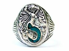 Mermaid ring,  .925 Sterling Silver,  with turquoise accent.