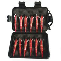 "12Pcs Hunting Broadheads 100 Grain 2.3"" Cut Arrowheads for Crossbow Compound Bow"