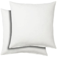 """Set of 2 - 26x26"""" Pillow Insert Euro Sham Couch Cushion White Polyester 26 inch"""