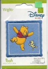 Disney Embroidered Patch Sew On Winnie the Pooh Collection Blue Yellow Chic Bird