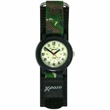 Sekonda Xpose Swimproof Luminous Dial Green Fabric Childrens Analogue Watch 3006