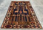 Authentic Hand Knotted Balouch Hunting Pictorial Wool Area Rug 5 x 3 Ft