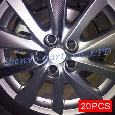 20pcs Black Car Truck Wheel Tyre Hub Screw Bolt Nut 19mm Rubber Cap Accessories