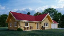 Log Cabin Home Shell Kit Logs 1368 Sqft 1940 With Garage