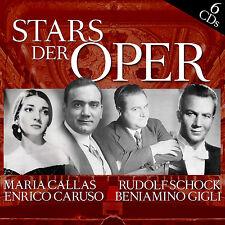 CD Stars der Opera con Maria Callas, Rudolf Schock, Enrico Caruso 6CDs