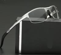 Aluminum magnesium Sports Half-rim Eyeglasses Men designer glasses Frames Optic