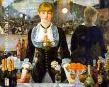 A Bar at the Folies Bergere by Edouard Manet - Girl Woman Server 8x10 Print 1094