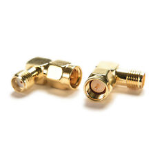 Gold SMA Male To SMA Female Jack RF Adapter Connector Plug 90 Degree Right Angle