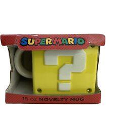 NEW | Super Mario Square Coin Box Coffee Mug | 16 oz | Novelty Cup | Nintendo