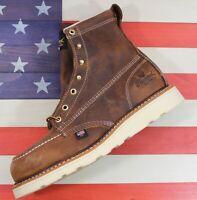 "Thorogood American Heritage 6"" SAMPLE Safety Steel Toe Work Boot [804-4200] 9 D"