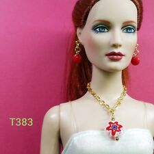 "T383 Tonner Tyler Ellowyne Avant Guard 16"" Doll Jewelry for collectors Red"