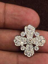 Pave 1.22 Cts F/VS1 Natural Diamonds Cross Pendant In Fine Hallmark 18Karat Gold