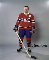 1960's NHL Montreal Canadiens  HOFer Jean Beliveau Color 8 X 10 Photo Free Ship