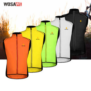 Men's Cycling Windvest Reflective Vest Outdoor Sports Sleeveless Jersey Gilet