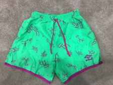 Vintage 1980-1990 Umbro Soccer Shorts Women Neon Green Pink