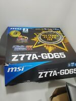 MSI Z77A-GD65 , LGA 1155, Intel Motherboard NOB - PARTS ONLY! AS IS!