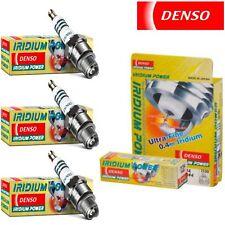 3 pc Denso Iridium Power Spark Plugs for Daihatsu Charade 1.0L L3 1988-1992