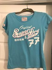 Superdry Blue Ladies T-Shirt Size Medium