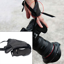UNIVERSAL LEATHER HAND GRIP WRIST STRAP FOR DSLR+SLR CANON NIKON ECT SONY EOS