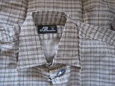 NOS mens DRESS SHIRT VTG  DEADSTOCK 70s 80s SPREAD COLLAR SLIM FIT PRINT 15