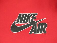 VINTAGE NIKE AIR - ANIMAL PRINT ON SLEEVES - XL - RED T-SHIRT- M743