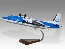 Fokker 50 KLM Cityhopper Wood Desktop Airplane Model