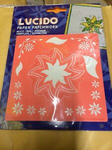 KH17A - LUCIDO STENCIL - FLOWERS SCRAPBOOK PAPERCRAFT  EMBOSSING PERGAMANO