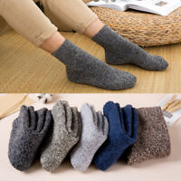 Mens Boy Terry-Loop Hosiery Tube Socks Winter Thicken Looped Pile Toweling Socks
