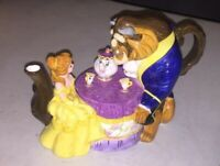 Disney Store Exclusive - Beauty and the Beast - Beast/Belle/Chip/Potts - Tea Pot