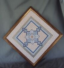 CREATIVE STITCHERY COMPLETED FRAMED NEEDLEPOINT GEOMETRIC ASSORTED STITCHES