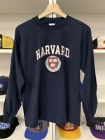 Vintage Champion Harvard University Shirt Sz S Blue Long Sleeve 90s College