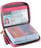 Womens Credit Card Holder Wallet Zip Leather Card Case RFID Blocking Rose NEW
