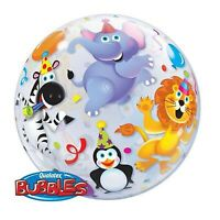 "BUBBLE BALLOON 22"" PARTY ANIMALS QUALATEX BUBBLE BALLOON"