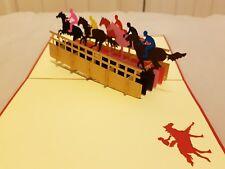 3D tarjeta de carreras de caballos de Pop Up. todas las ocasiones