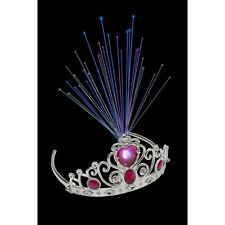 Girl's Child's Light Up Tiara & Pink Jewels Princess Fancy Dress World Book Fun