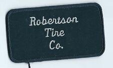 Robertson Tire Co dealer employee patch 2-1/2 X 4-1/2 Tulsa OK
