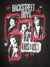 "2010 Backstreet Boys ""This Is Us"" Concert Tour (Med) T-Shirt Black & Red"