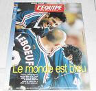 EQUIPE MAGAZINE N°849 1998 FOOTBALL COUPE DU MONDE FRANCE 98 LE MONDE EST BLEU