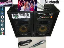 Coppia Casse Amplificate Karaoke Blue Tooth MP3 con Microfono Professionale